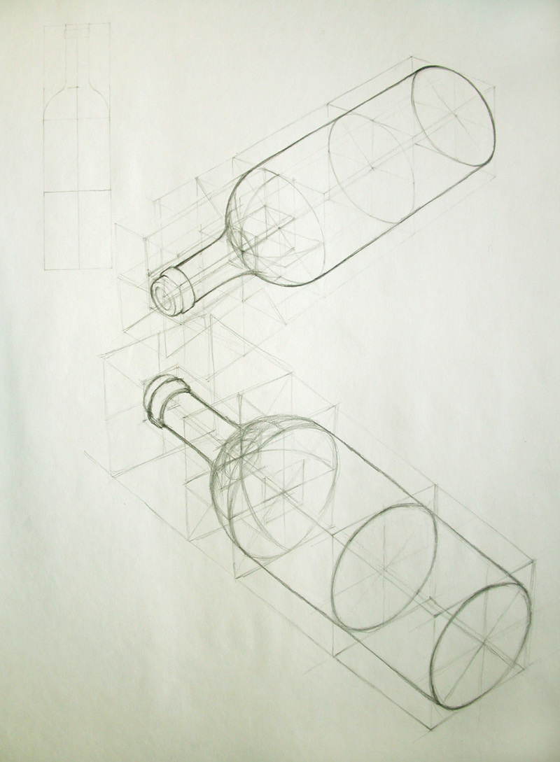 The gallery for --> Object Drawing Of Bottle